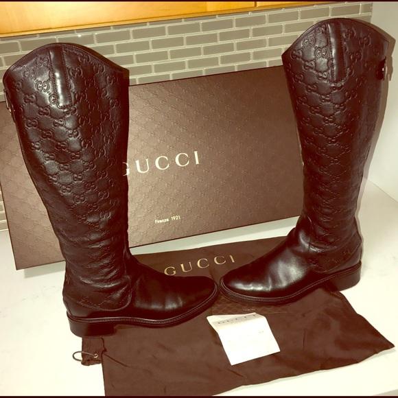 bb512835805 Gucci Shoes - GUCCI BOOTS Style296161 A9L20 1000 BlackGuccissima